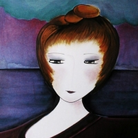 Femme au chignon, 50x65cm