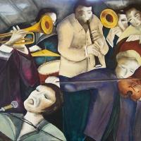 Jazz band 130x97cm