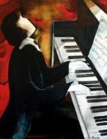 Au piano, 81x65cm
